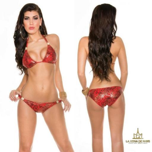 Bikini impactante rojo Barú