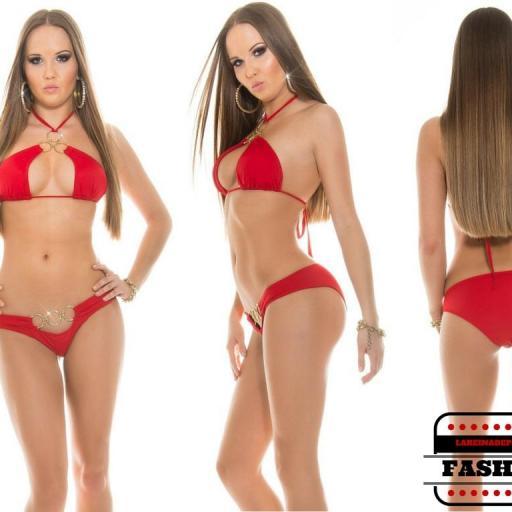 Bikini favorecedor bajo el sol Noelle rojo [2]