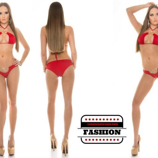 Bikini favorecedor bajo el sol Noelle rojo [3]