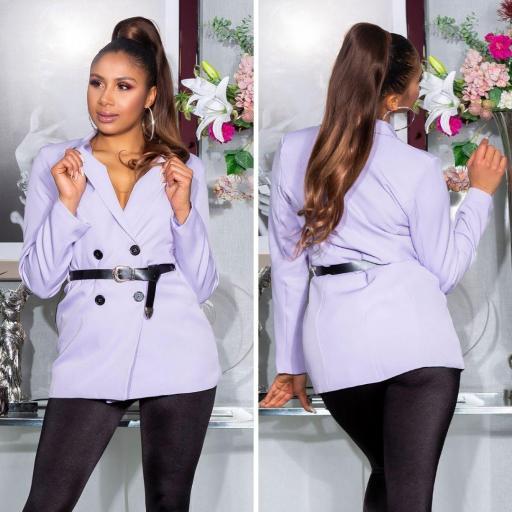 Blazer de moda cruzado lila
