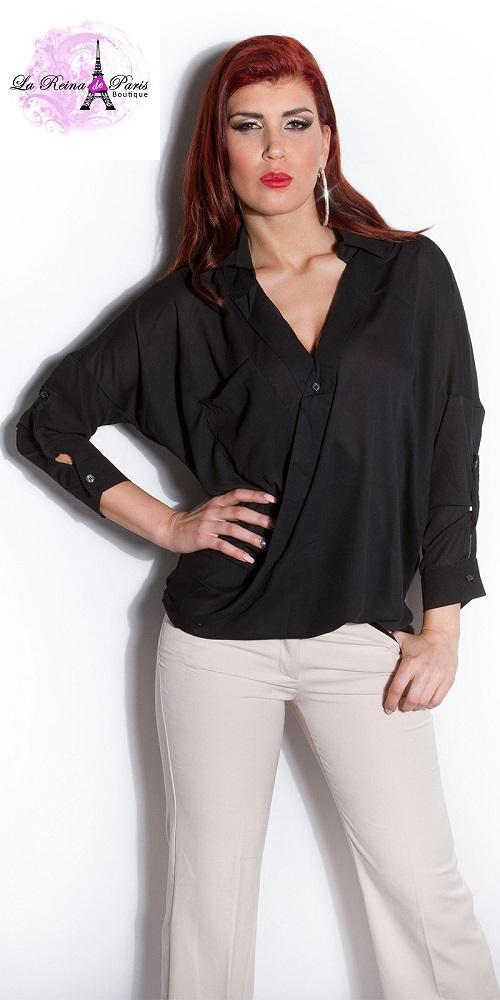 Blusa de moda Aeiral negra