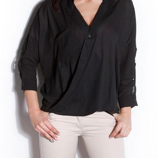 Blusa de moda Aeiral negra [3]