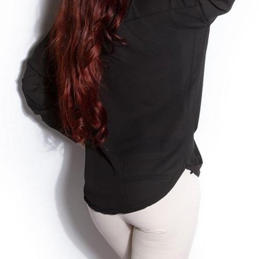 Blusa de moda Aeiral negra [1]