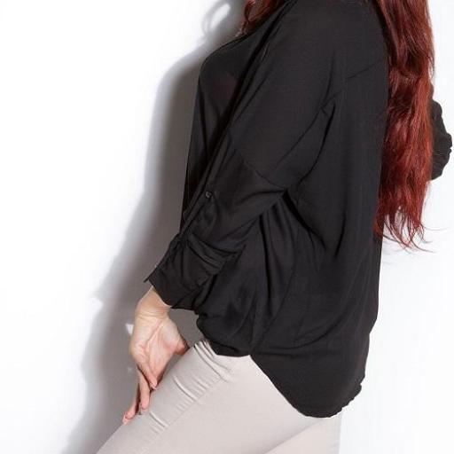 Blusa de moda Aeiral negra [2]