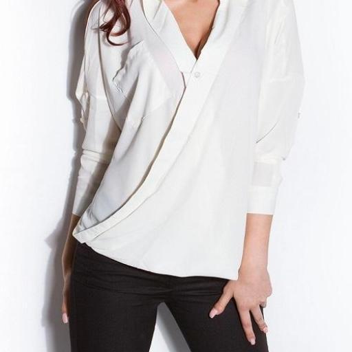 Blusa de mujer envuelta blanco [3]