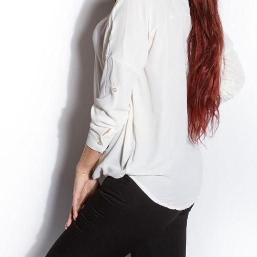 Blusa de mujer envuelta blanco [2]
