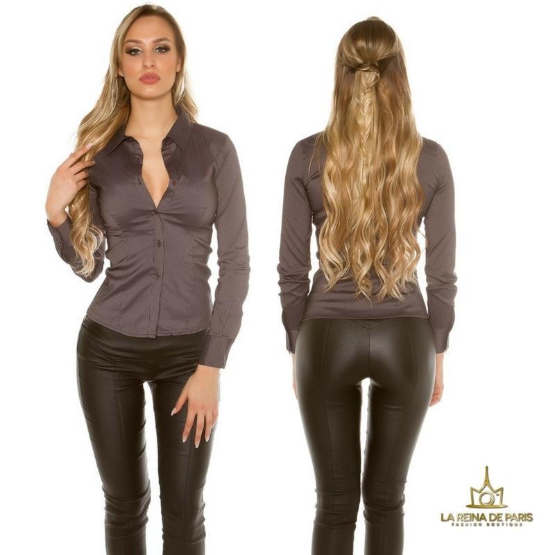 Blusa ajustada negro moderna