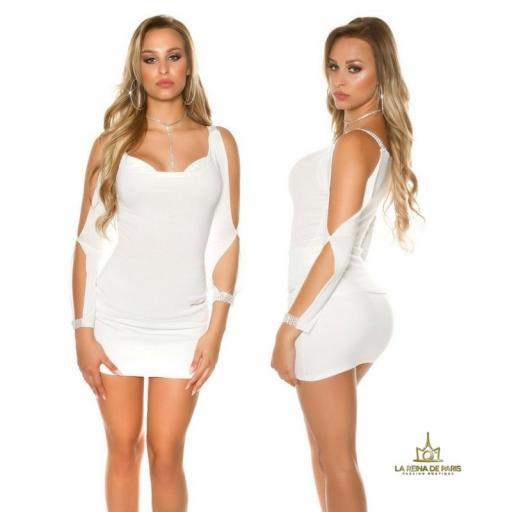 Blusa blanca con mangas abiertas [2]