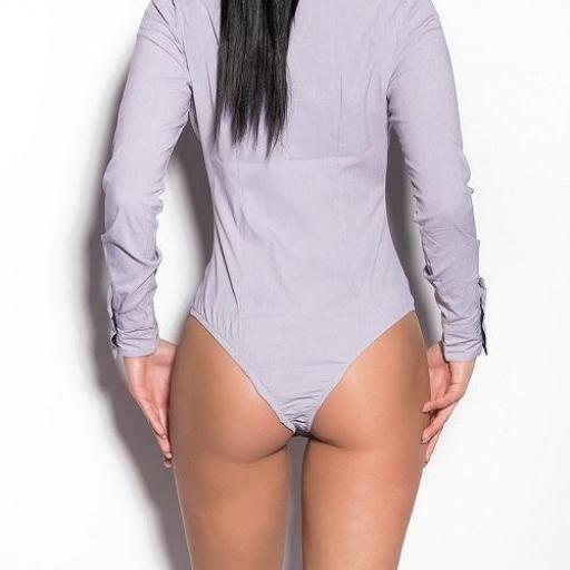 Blusa body ejecutiva beige  [3]