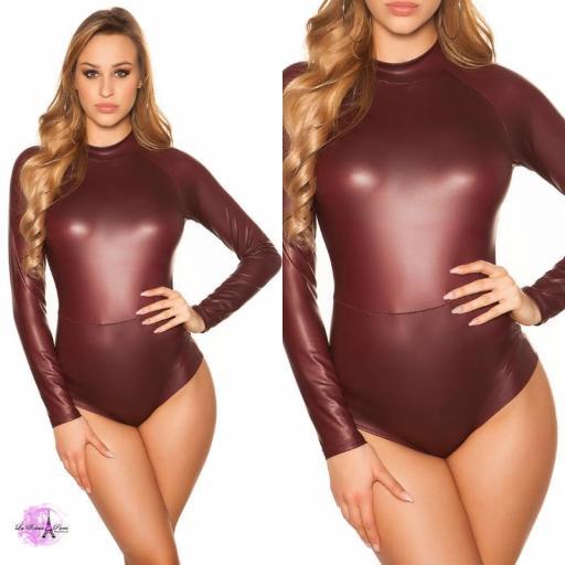 Body cuero vegano burdeos [3]