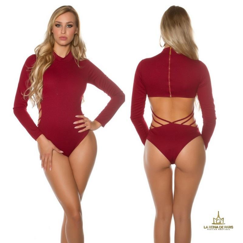 Body atractivo color burdeos