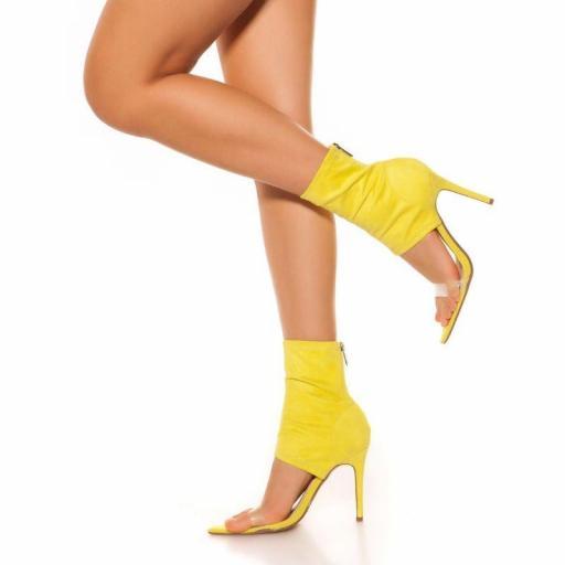 Botines de tacón alto amarillo [2]