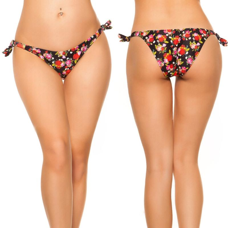 Bikini slip para atar negro
