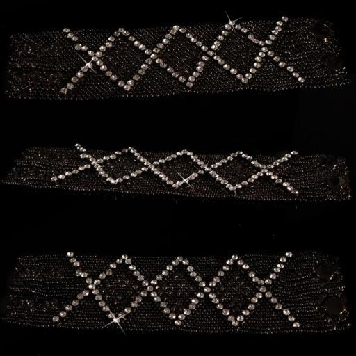 Pulsera complementos de moda en negro