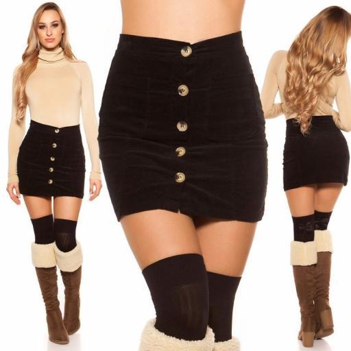 Mini falda de pana de moda