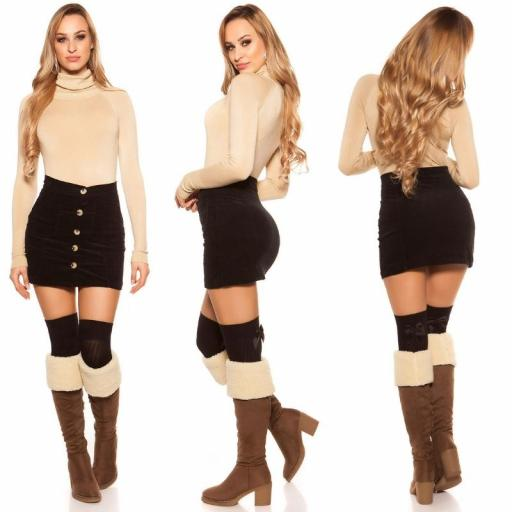 Mini falda de pana de moda [1]