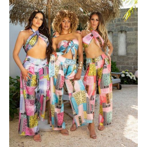 Conjunto verano top más pantalón coral [3]