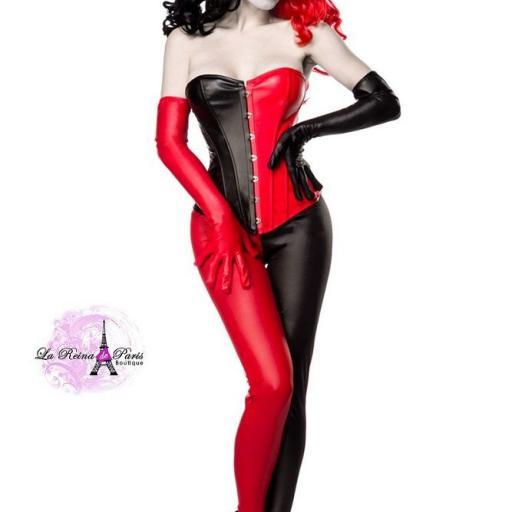 Arlequín disfraz rojo negro [1]