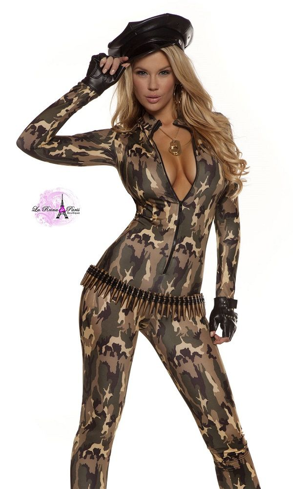 Disfraz militar sexy mono uniforme