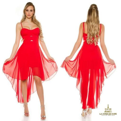 Vestidos cóctel Carletta Rojo