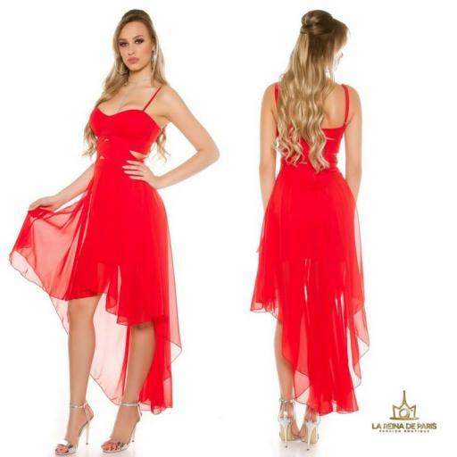Vestidos cóctel Carletta Rojo [1]