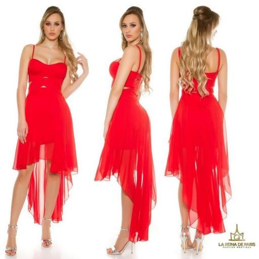 Vestidos cóctel Carletta Rojo [2]
