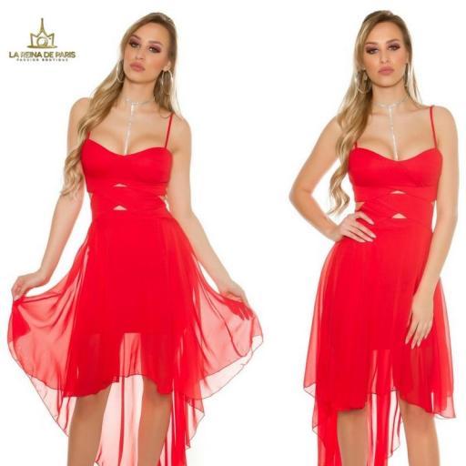 Vestidos cóctel Carletta Rojo [3]
