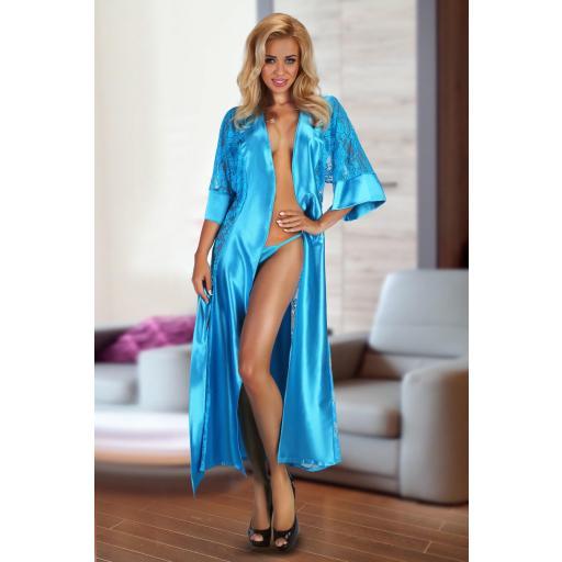 Bata azul turquesa luxury