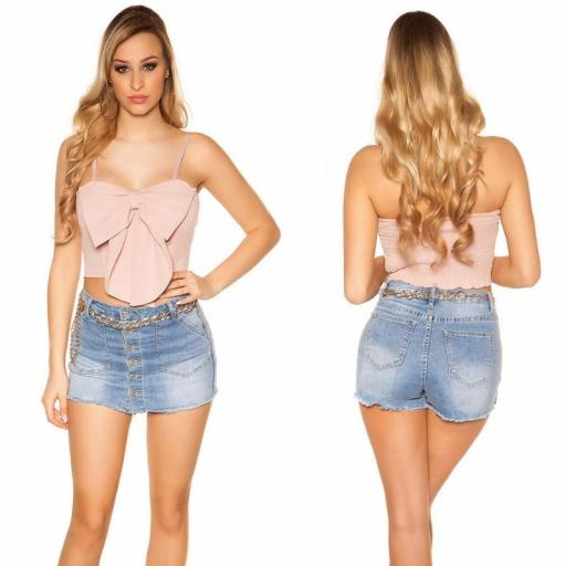 Crop top bucle rosa [1]