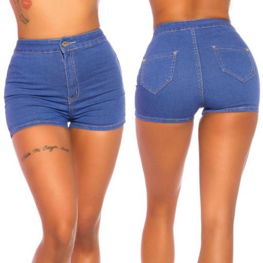 Moda Jean corto cintura alta