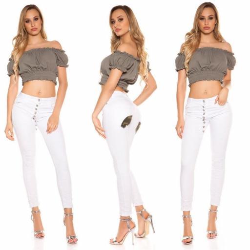 Jeans blanco marcatipazo abotonado [3]