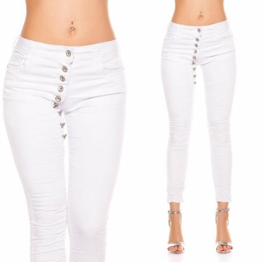 Jeans blanco marcatipazo abotonado [2]
