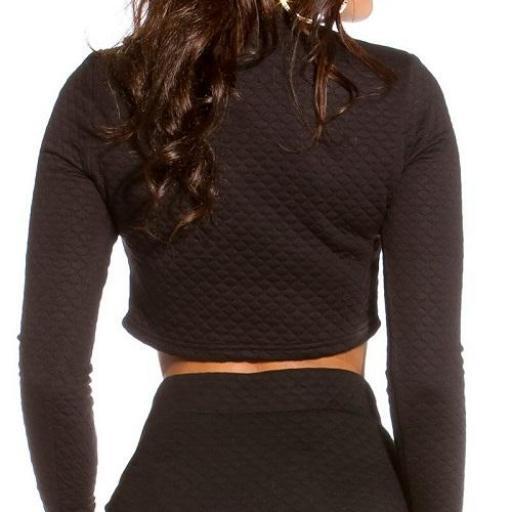 Jersey ropa de moda Pamella corto negro [1]