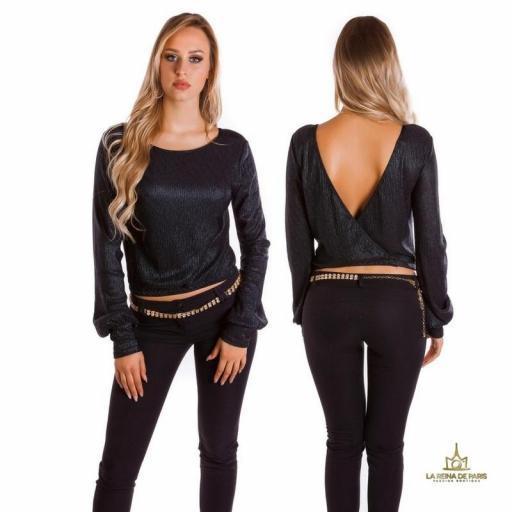 Jersey corto de fiesta negro