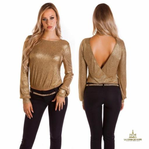 Jersey corto de fiesta oro