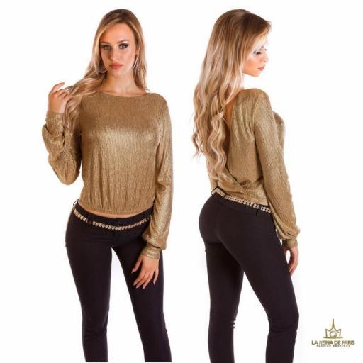 Jersey corto de fiesta oro  [1]