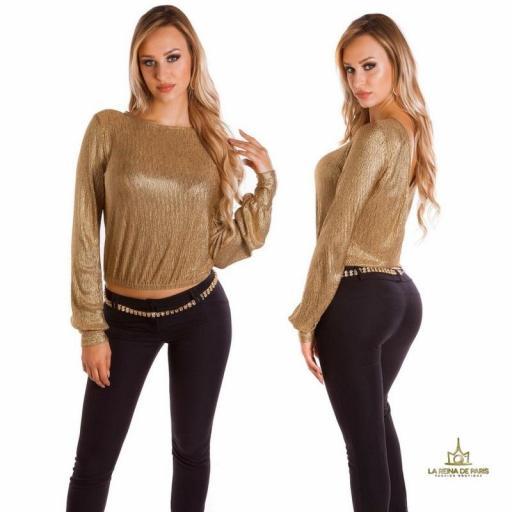 Jersey corto de fiesta oro  [3]