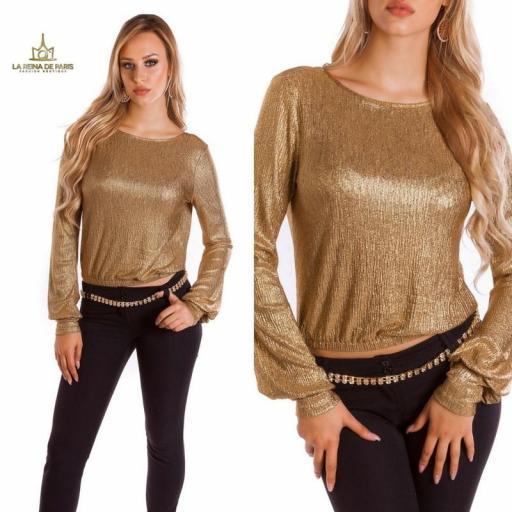 Jersey corto de fiesta oro  [2]