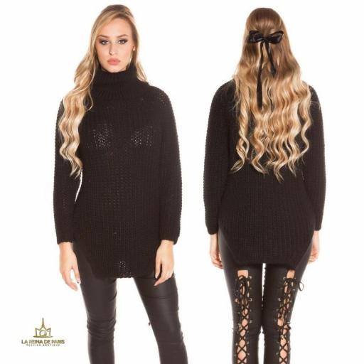 Jersey moda aberturas negro  [1]