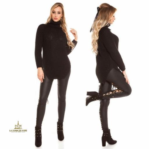 Jersey moda aberturas negro  [2]
