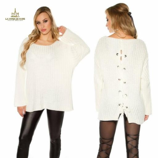Jersey oversize blanco