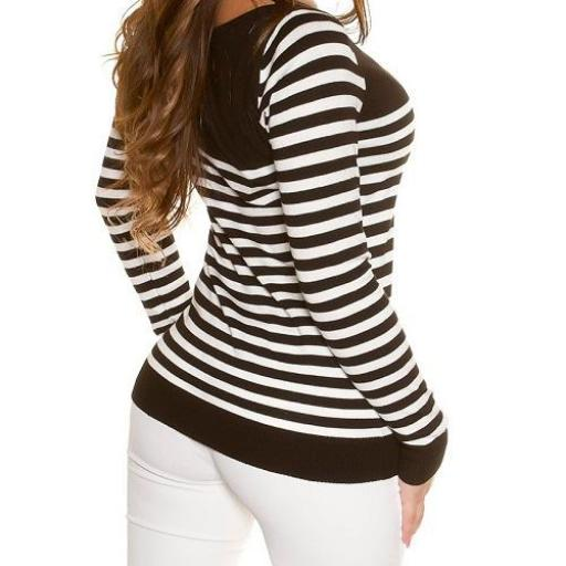 Jersey corto hermoso estilo náutico  [2]