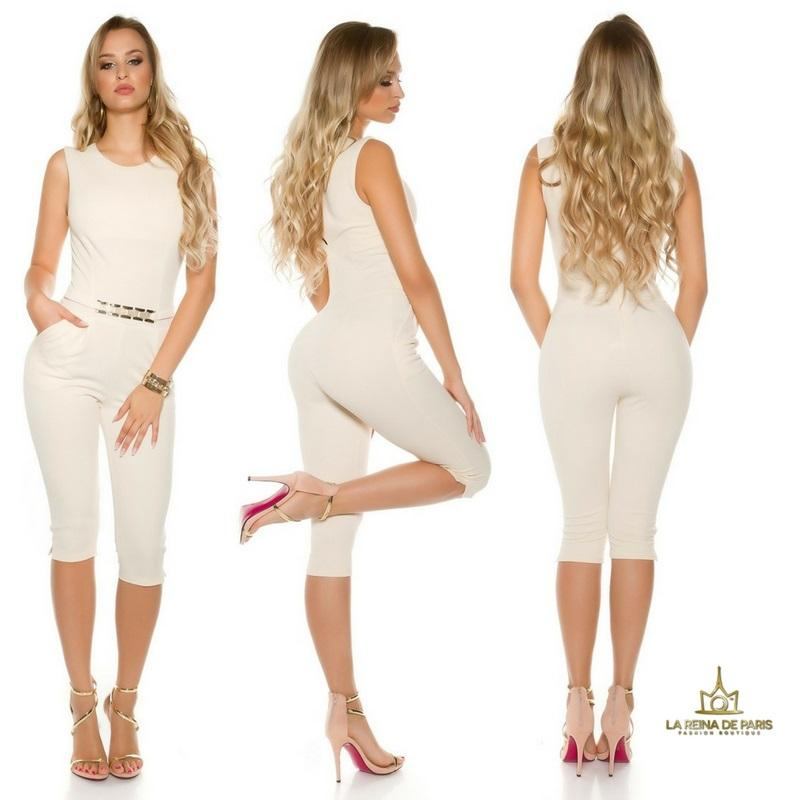 Capri jumpsuit beige