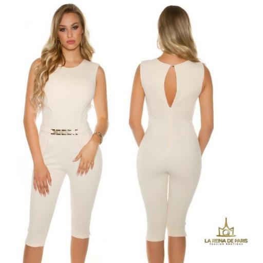Capri jumpsuit beige [1]
