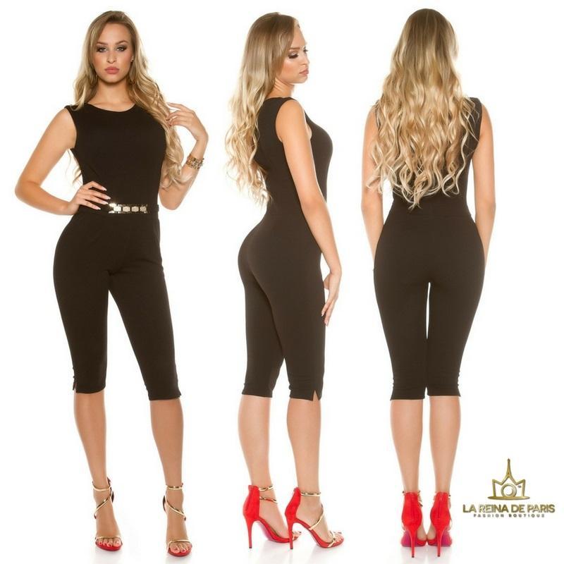 Capri jumpsuit negro