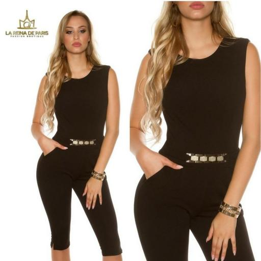Capri jumpsuit negro [3]