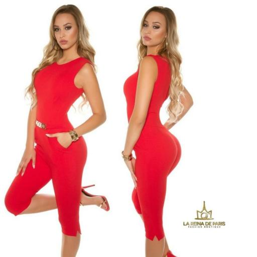 Capri jumpsuit rojo [2]