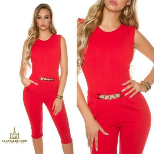 Capri jumpsuit rojo [3]
