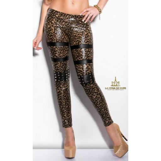 Leggins leopardo con pernos [1]