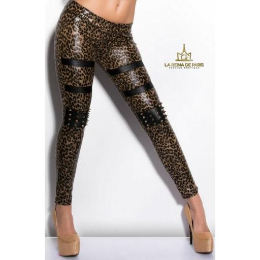 Leggins leopardo con pernos [3]